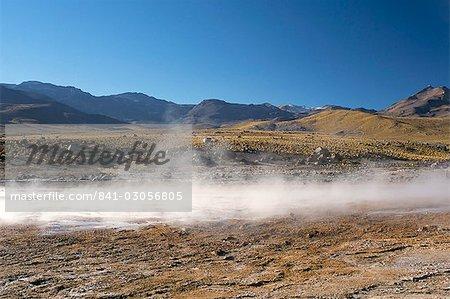 Geysers at Sol de Manana, Salar de Uyuni, Bolivia, South America