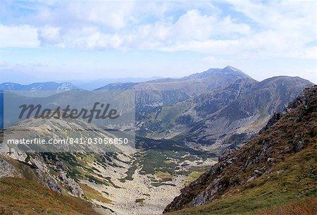 Siroka vallée dominée par le pic Dumbier, 2043m, dans les Basses Tatras, Nizke Tatry, Zilina région, Slovaquie, Europe