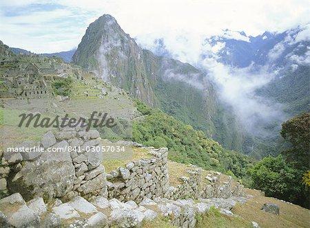Ruines Incas, Machu Picchu, patrimoine mondial UNESCO, Pérou, Amérique du Sud