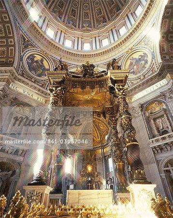 Interior of St. Peter's, Vatican, Rome, Lazio, Italy, Europe
