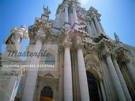 Cathédrale, Siracusa (Syracuse), Sicile, Italie, Méditerranée, Europe