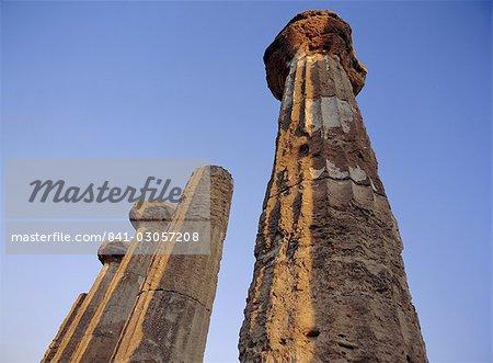 Agrigente, UNESCO World Heritage Site, Sicile, Italie, Méditerranée, Europe