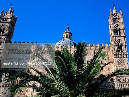 Île de la cathédrale, Palerme, Sicile, Italie, Méditerranée, Europe