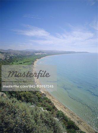Côte, Morgantina, Sicile, Italie, Méditerranée, Europe