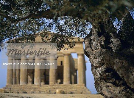 Temple de Concordia, Agrigente, UNESCO World Heritage site, Sicile, Italie, Méditerranée, Europe