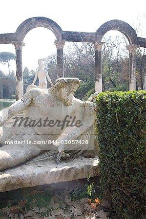 Villa, patrimoine mondial UNESCO, Tivoli Hadrien, près de Rome, Latium, Italie, Europe