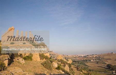 Temple de Junon, la vallée des Temples, Agrigente, UNESCO World Heritage Site, Sicile, Italie, Europe