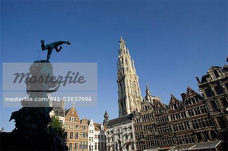Grote Markt (place du marché), Anvers, Belgique, Europe