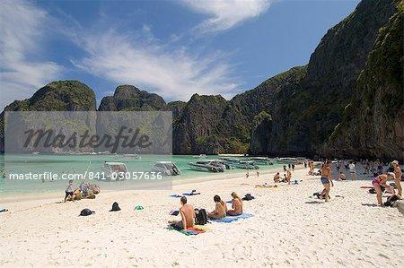 Maya Bay, île de Phi Phi Lay (Thaïlande), l'Asie du sud-est, Asie