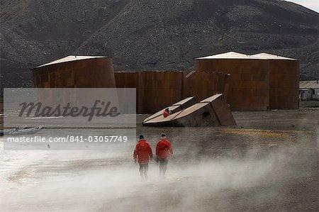Station de chasse à la baleine abandonnée, téléphone Bay, île de la déception, îles Shetland du Sud, l'Antarctique, régions polaires