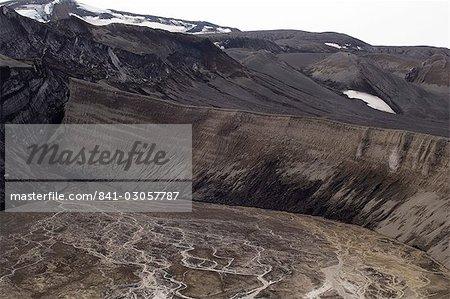 Volcan, île de la déception, Sud îles Shetland, l'Antarctique, les régions polaires