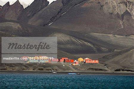 Base en espagnol, île de la déception, les îles Shetland du Sud, l'Antarctique, régions polaires