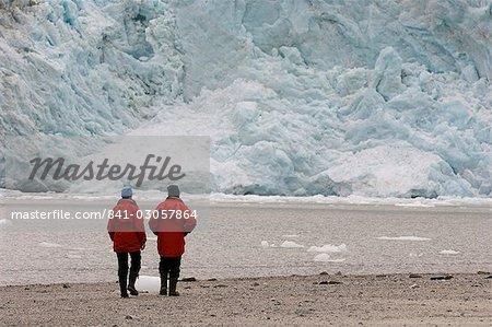 Pia Glacier, canal de Beagle, Darwin le Parc National Tierra del Fuego, Patagonie, au Chili, en Amérique du Sud