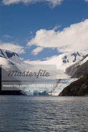 Garibaldi Glacier, Fjord de Garibaldi, Darwin, le Parc National Tierra del Fuego, Patagonie, au Chili, en Amérique du Sud