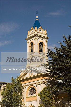 Place de cathédrale, principale, Punta Arenas, Patagonie, au Chili, en Amérique du Sud