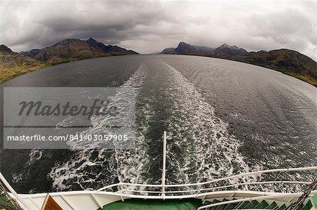 Rêve de l'Antarctique le navire, canal de Beagle, Tierra del Fuego, Patagonie, au Chili, en Amérique du Sud