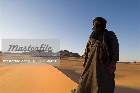Touareg, Akakus, Sahara desert, Fezzan (Libye), l'Afrique du Nord, Afrique