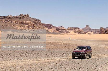 Wadi Teshuinat, Akakus, Sahara desert, Fezzan (Libye), l'Afrique du Nord, Afrique