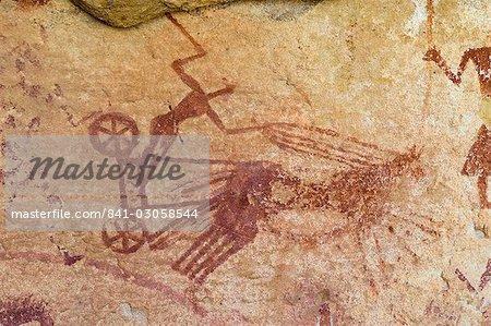 Peintures Rupestres Prehistoriques Wadi Teshuinat Akakus Sahara Desert Fezzan Libye L Afrique Du Nord Afrique Photographie De Stock Masterfile Rights Managed Artiste Robertharding Code 841 03058544