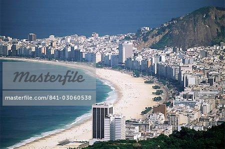Vue aérienne de Copacaban, Rio de Janeiro, au Brésil, en Amérique du Sud