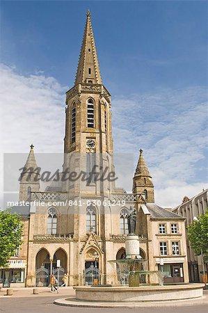 St. Johann Markt, église Ludwigskirche, Saarlouis, Saarland, Allemagne, Europe