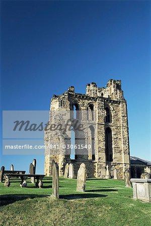 Tynemouth Priory, Tyne et Wear, Angleterre, Royaume-Uni, Europe