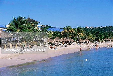Pigeon Point, Rodney Bay, Sainte-Lucie, îles sous-le-vent, Antilles, Caraïbes, Amérique centrale