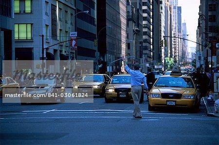 Principal originaire de taxi au centre-ville d'état de Manhattan, New York, New York, États-Unis d'Amérique, Amérique du Nord