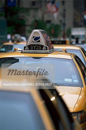 Station de taxis, état de Manhattan, New York, New York, États-Unis d'Amérique, Amérique du Nord