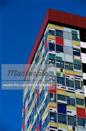 Le bâtiment Colorium par William Alsop au Medienhafen (port des médias), Düsseldorf, Nord Westphalie, Allemagne, Europe