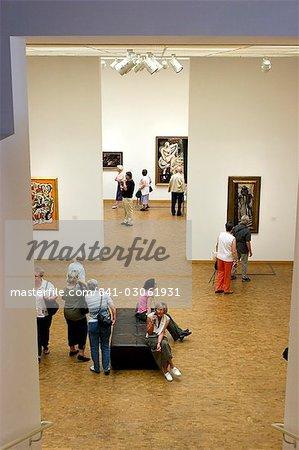 Exposition d'art, museum Ludwig, Cologne, Nord Westphalie, Allemagne, Europe
