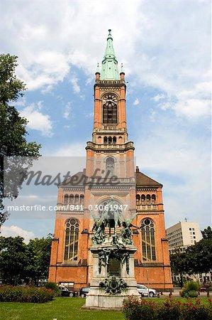 Johannes Church, Dusseldorf, North Rhine Westphalia, Germany, Europe