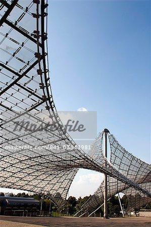 Olympiapark (parc olympique), Munich, Bavière, Allemagne, Europe