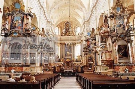 Interior, Dominican Church of the Holy Spirit, Dominikonu Street, Vilnius, Lithuania, Baltic States, Europe