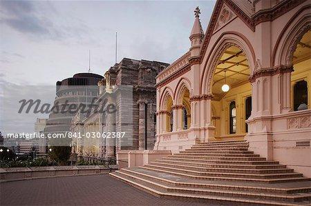 Ruche, Parliament House et la bibliothèque du Parlement, Wellington, North Island, New Zealand, Pacifique