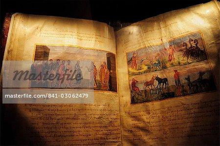 Das Buch Hiob aus dem 11. Jahrhundert, Kloster St. Katharina, Sinai, Ägypten, Nordafrika, Afrika