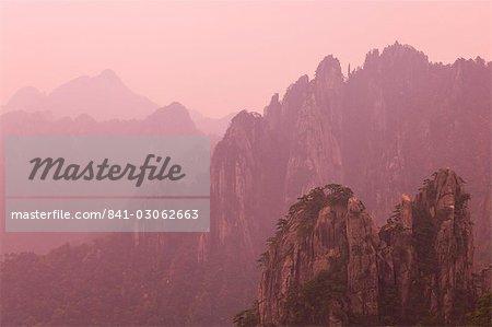 Mer du Nord scenic area, Mont Huangshan (Yellow Mountain), patrimoine mondial de l'UNESCO, la Province d'Anhui, Chine, Asie