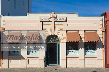Immeuble Art déco, Napier, North Island, Nouvelle-Zélande, Pacifique