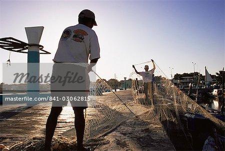 Pêcheurs, Campeche, au Mexique, en Amérique du Nord