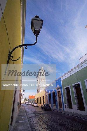 La cathédrale, la ville de Campeche, Campeche, Mexique, l'Amérique du Nord