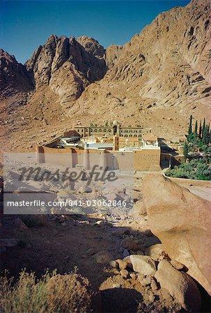 En Afrique du Nord monastère, Sinai, Egypt, Sainte-Catherine