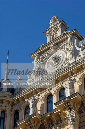 Architecture Art Nouveau, 13 Alberta iela, Riga, patrimoine mondial de l'UNESCO, Lettonie, pays baltes, Europe