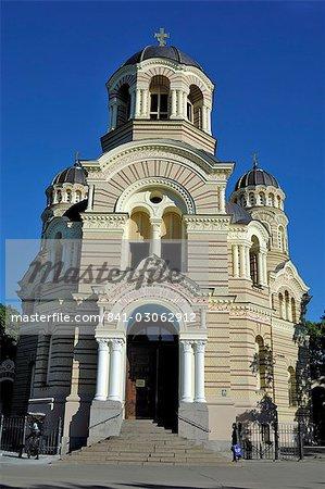 Russian Orthodox Cathedral, Riga, Latvia, Baltic States, Europe