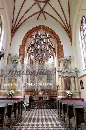 Intérieur de St. Anne church, Vilnius, Lituanie, pays baltes, Europe