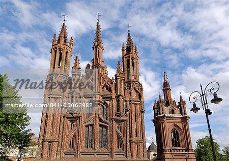 Église St. Anne, Vilnius, patrimoine mondial de l'UNESCO, la Lituanie, pays baltes, Europe