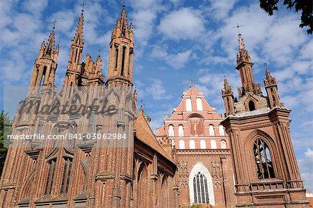 Sainte-Anne et Bernardine églises, Vilnius, patrimoine mondial UNESCO, Lituanie, pays baltes, Europe