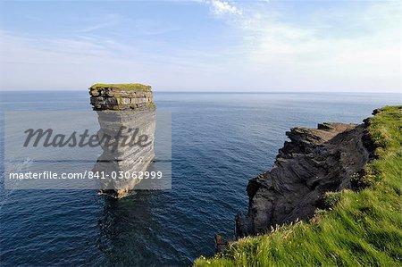 Sea Stack at Downpatrick Head, near Ballycastle, County Mayo, Connacht, Republic of Ireland, Europe