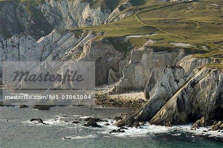 Falaises de Ashleam, l'île d'Achill, comté Mayo, Connacht, Irlande, Europe