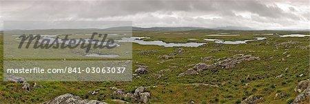 Terre de tourbière, la route de la tourbière entre Clifden et Roundstone, Connemara, comté de Galway, Connacht, Irlande, Europe
