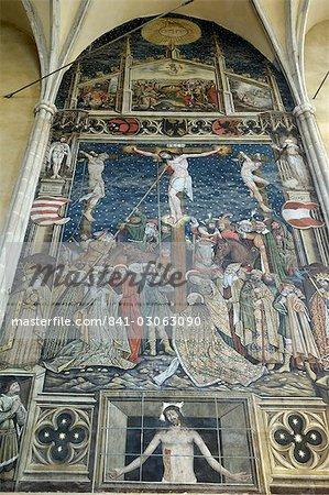 Fresques à l'intérieur de l'Europe de Transylvanie, en Roumanie, cathédrale, Sibiu, évangélique